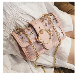 Transparent Jelly bag 2019 Fashion New High Quality PVC Women's Designer Handbag Cute Girl Lock Chain Shoulder Messenger bags