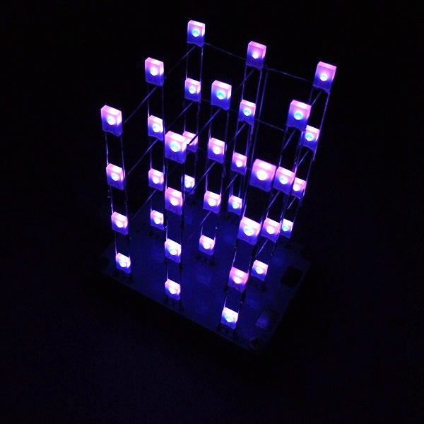 Geekcreit DIY C51 Touch Control 3x3x4 Color LED Light Cube Kit