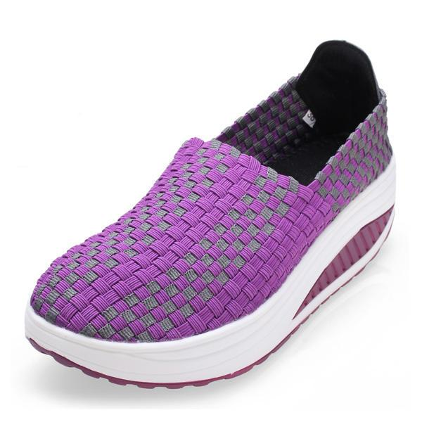 Women's Stretch Casual Breathable Knit Shook Shoes Sneakers - EY Shopping
