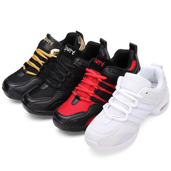 Lady Jazz Hip-hop Shoes Practice Dance Breathable Sneakers Shoes - EY Shopping
