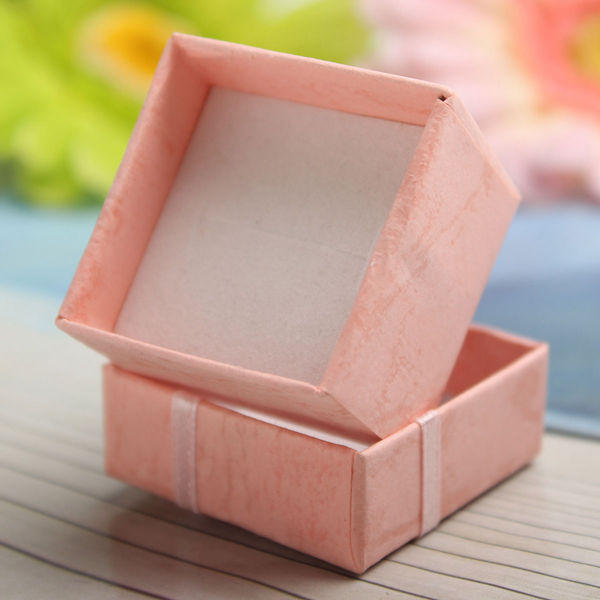 Bow Earring Ring Pendant Jewelry Display Gift Box Square Case