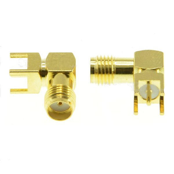 2pcs SMA Female Adapter Right Angle Solder For PCB Board Mount RF Connector for RC Drone FPV Racing