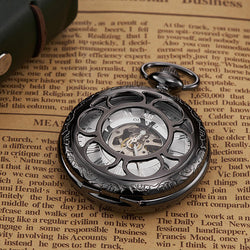 OUYAWEI P08 Classic Mechanical Pocket Watches Roman Numeraals Dial Men Retro Pendant Pocket Watch