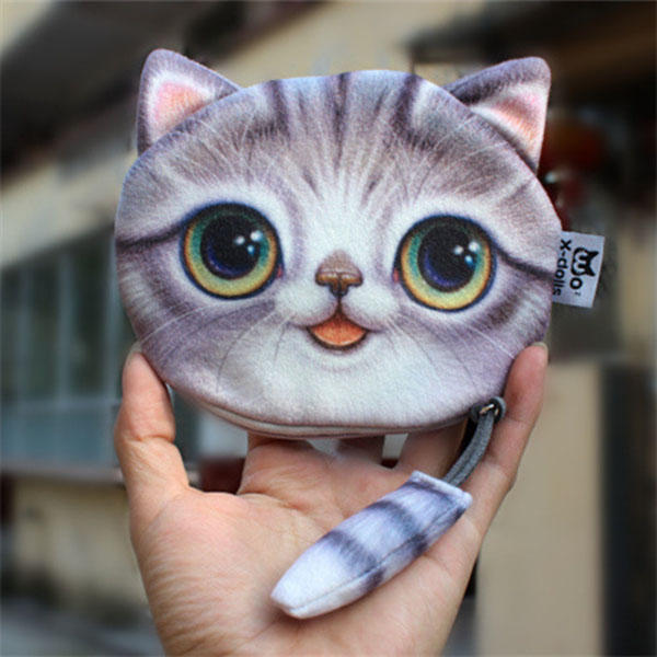 Women Cute Cat Wallet Coin Bag Fashion Mini Bag Money Purse