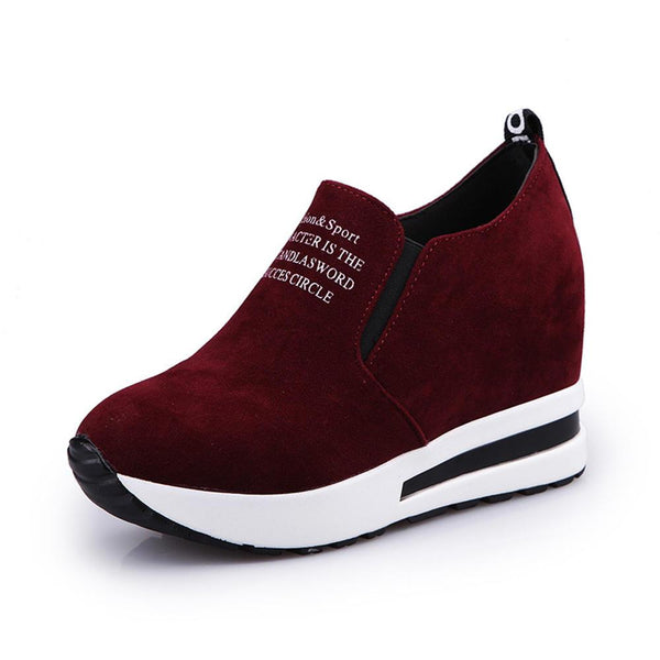 Women Casual Shoes Thick Bottom Hidden Heel Sneakers - EY Shopping