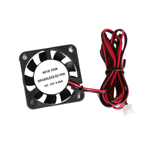 Anet 2Pcs 4010 40*40*10mm 12V DC Brushless Cooling Fan with Wire for RepRap Prusa i3 DIY 3D Printer