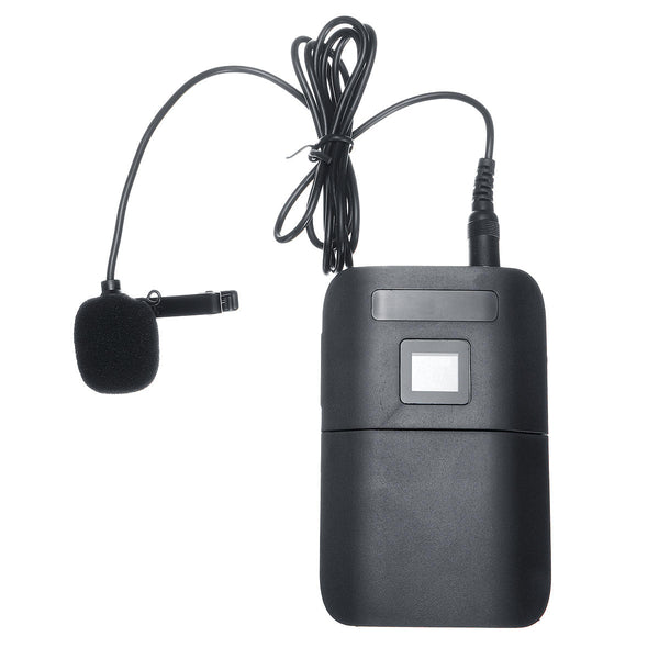 UHF Wireless Microphone Lavalier Lapel Mic Receiver Transmitter Dual Headset for Speech Teach