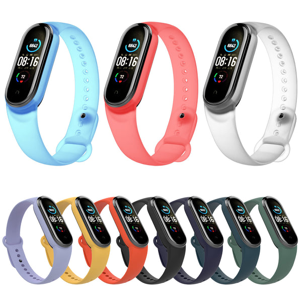Bakeey Transparent Watch Band Watch Strap Replacement for Xiaomi Miband 5 Mi Band 5