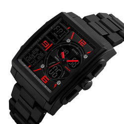 SKMEI 1274 Outdoor Sport Digital Watch PU Band 5ATM Waterproof Chronograph Men Wristwatch