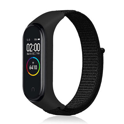 Bakeey Nylon Loopback Integrated Design Watch Band Strap for Xiaomi Mi Band 4&3