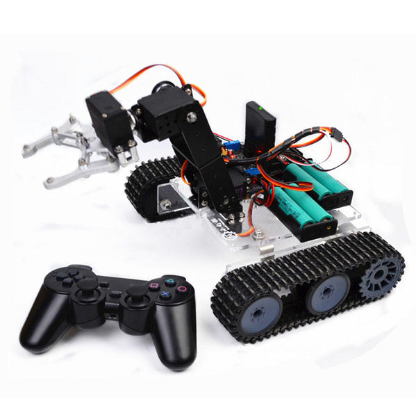 SNAR20  DIY RC Robot Arm Tank Acrylic With PS2 Stick