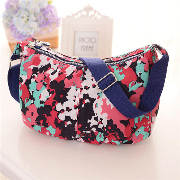 Waterproof Women Casual Messenger Bags Nylon Light Shoulder Bag Summer Crossbody Bag 16 Colors