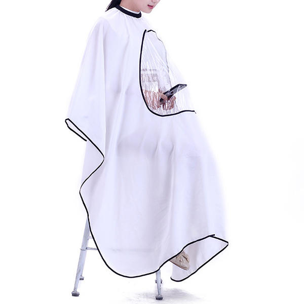 Hairdressing Robe Cloth Waterproof Barber Hairdresser Salon Cape Gown With Phone Window