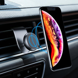 Floveme Upgrade L-shape Magnetic Air Vent Car Phone Holder For 3.5-7.0 Inches Smart Phone for iPhone 11 Samsung Galaxy Note 10+ Xiaomi Redmi Note 8 Pro