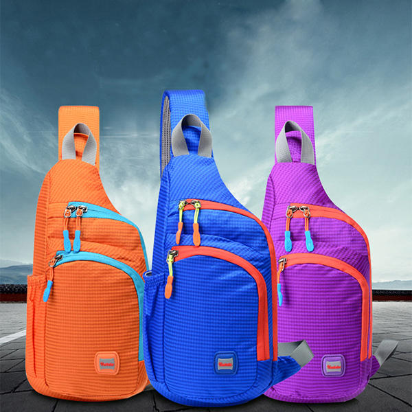Unisex Men Women Waterproof Nylon Chest Bag Outdoor Sport Crossbody Bag