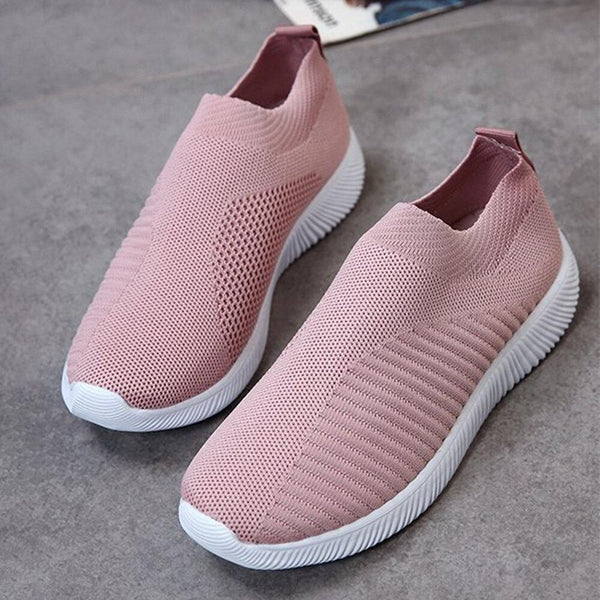 Large Size Women Mesh Outdoor Slip On Sneakers - EY Shopping