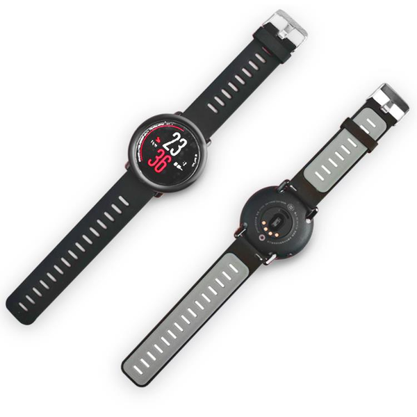 22mm Double Colors Silicone Watch Strap Replacement Bracelet Band For Xiaomi Huami Amazfit