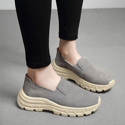 Women Elastic Band Suede Comfortable Sole Platform Sneakers