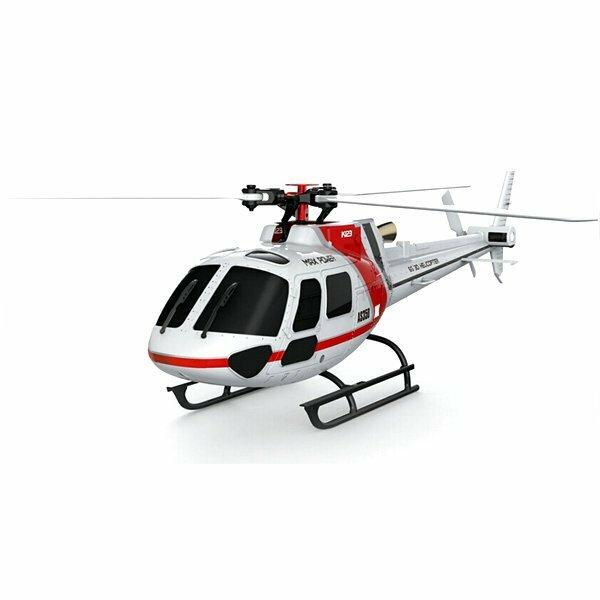 XK K123 6CH Brushless AS350 Scale 3D6G System RC Helicopter BNF - EY Shopping