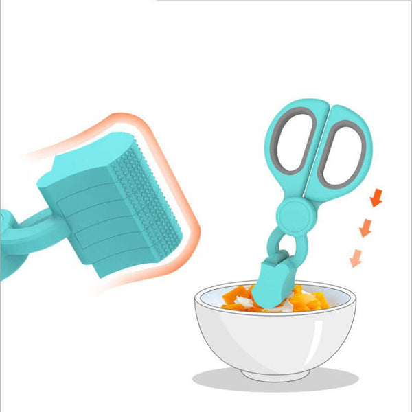 Children Baby Food Supplement Food Safety Scissors Fish Meat Noodles Cutting Tool