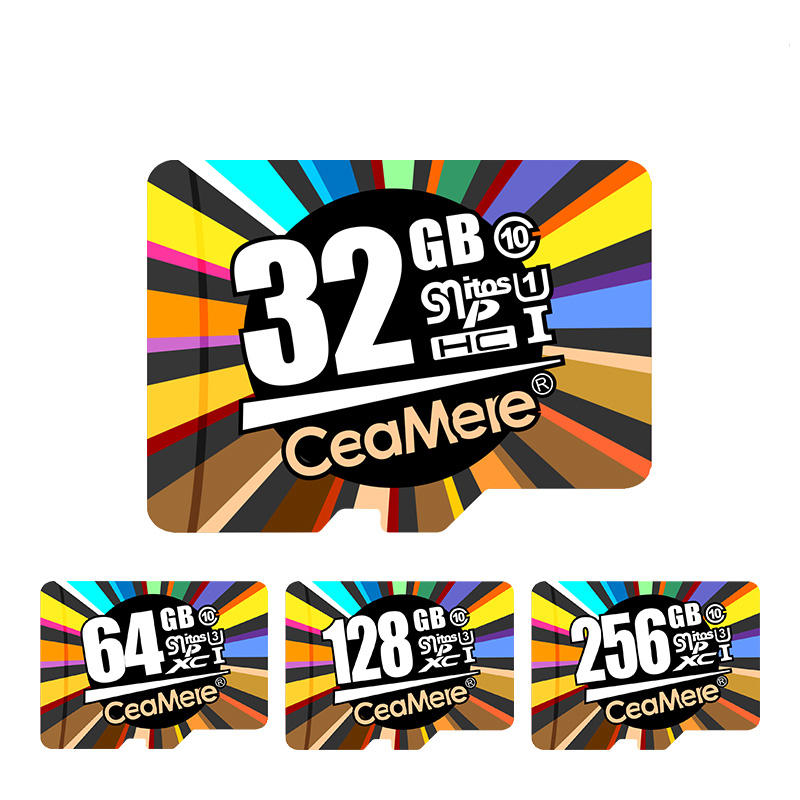 CeaMere 8GB 16GB 32GB 64GB 128GB High Speed Class 10 TF Memory Card For Smart Phone Tablet GPS Car DVR