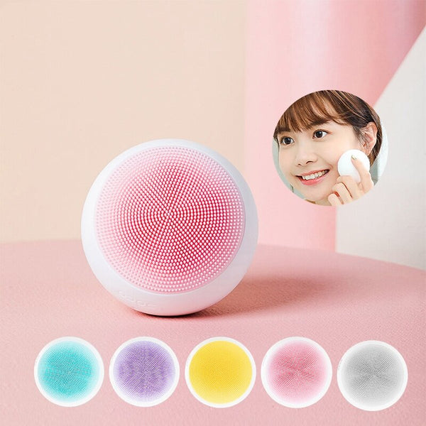 DOCO Electric Face Cleansing Brush Ultrasonic Skin Scrubber Silicone Sonic Vibrator Cleaner Facial Cleaning Device From Xiaomi Youpin