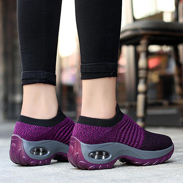 Women Casual Shoes Mesh Cushioned Outdoor Sneakers - EY Shopping