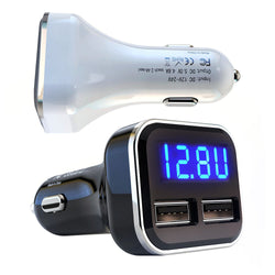 Bakeey USB Car Charger 28W 4.8A Voltage Current Display Quick Charging For iPhone XS 11Pro Xiaomi Mi10 Redmi Note 9S
