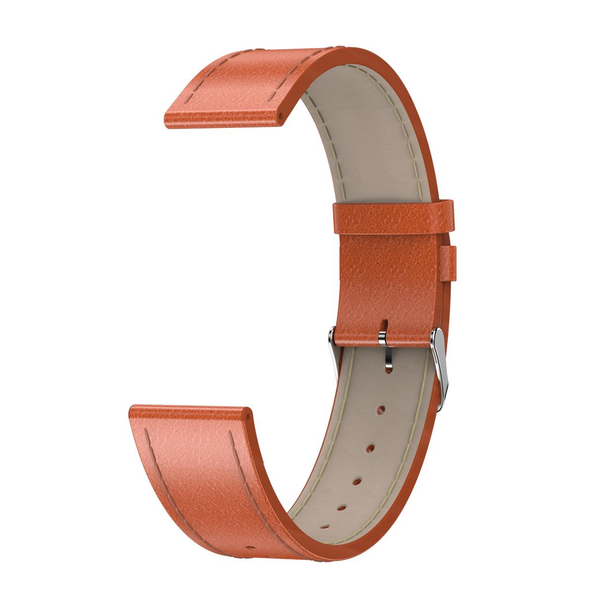 Newwear 20mm Universal Replacement Leather Watch Band for Smart Watch Q9 Q8 Q3 Q3 Plus
