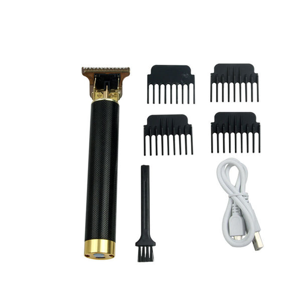 Men's Electric Shaver Kit Low Noise USB Charging Waterproof Hair Chipper Set With 4 Limit Comb