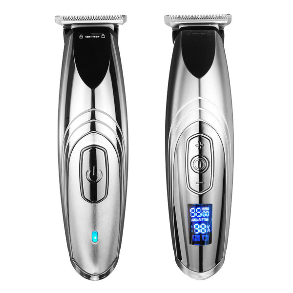 7000r/min LCD Digital Men Rechargeable Clipper Oil Head Cordless Carving Electric Hair Clipper Cutter Haircut Trimmer Kit