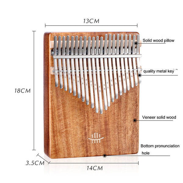 HLURU 21 Keys Thumb Piano wooden Professional Kalimbas bottom hole Mahogany Musical Instrument for beginner