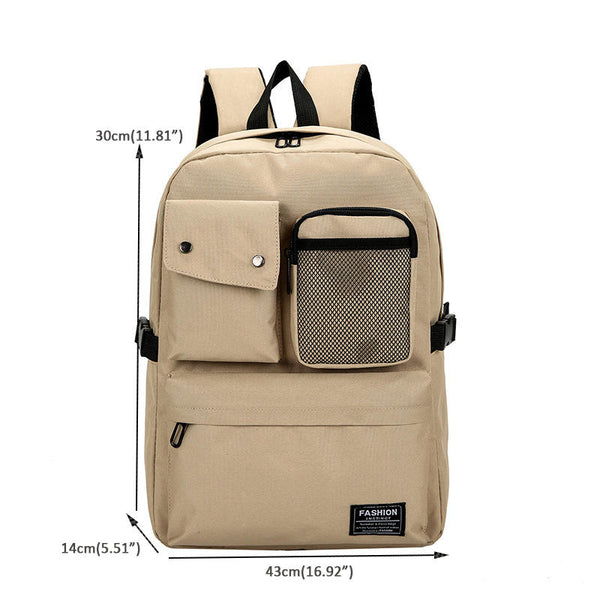 Outdoor Canvas Casual Large Capacity Backpack Tavel Bag For Men And Women