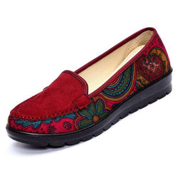 Big Size Women Casual Flat Loafers Slip-on Breathable Shoes Soft Sole Shoes - EY Shopping