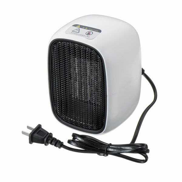 PTC Mini Portable Space Heater Electric Hot Fan Air Heater Home Office Desk Handy Warmer 500W