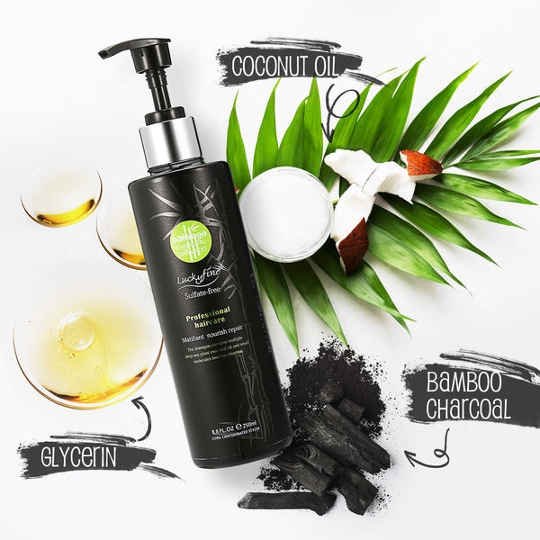 250ML Bamboo Charcoal Shampoo for Hair Cleaning