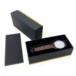 Business 16*7.3*4.3cm Black Necklace Watch Box Storage Gift Box with Sponge