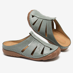 LOSTISY Women Hollow Out Comfy Round Toe Slip On Summer Casual Sandals
