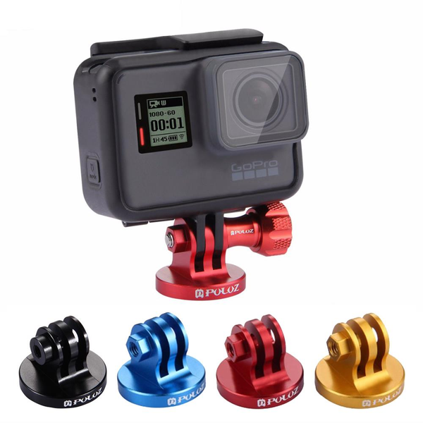 PULUZ PU145 Aluminum Tripod Mount Adapter for GoPro HERO6 5 4 3 3+ 2 1 Xiaoyi Action Cameras