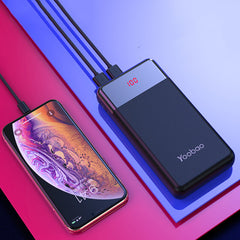 YOOBAO PD20W 20000mAh Power Bank LED Display Dual USB Output Fast Charging For iPhone XS 11Pro Huawei P30 P40 Pro Xiaomi MI10 Redmi Note 9S