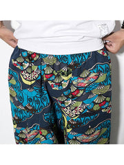 Mens Cotton Linen Vintage Harem Pants Hip Hop Wide Leg Pants - EY Shopping