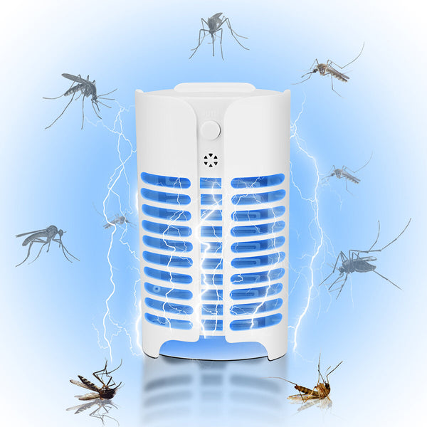 4LED Electric UV Mosquito Insect Killer Lamp Fly Bug Pest Plug In Trap Zapper Light