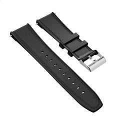 Kospet 24MM Head Layer Cowhide Silicone Watch Band Strap for Smart Watch Kospet Prime Optimus Pro Optimus Hope Brave Lite