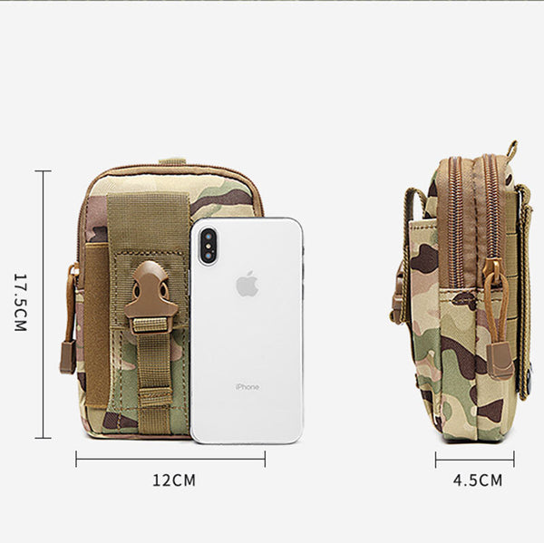 Bakeey Multi-function Waterproof Camouflage Tactical Outdoor Sport Running Waist Bag Phone Bag Ulefone Armor 9 DOOGEE S88 Pro