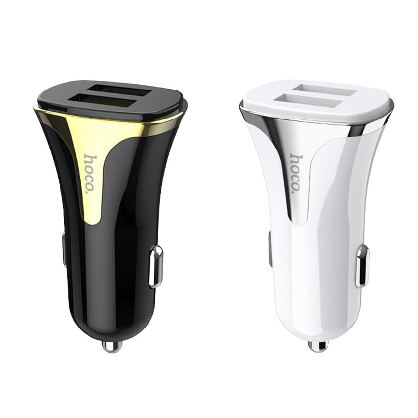 HOCO 3.4A QC3.0 Double Port Fast Charging USB Car Charger For iPhone X XS XR HUAWEI P30 XIAOMI Universal Car