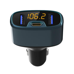 Bakeey 18W PD Dual USB bluetooth Intelligent Digital Display Fast Charging FM Transmitter Car Charger Hands Free Call MP3 Player For iPhone 8 Plus XS 11Pro Huawei P30 Mate 30 5G