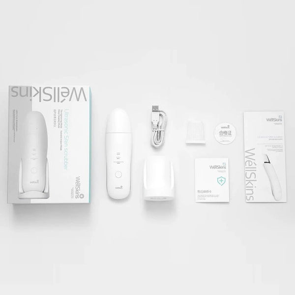 WllSkins Ultrasonic Facial Scrubber Exfoliating Skin Care Equipment SmartChip Beauty Instrument From Xiaomi Youpin