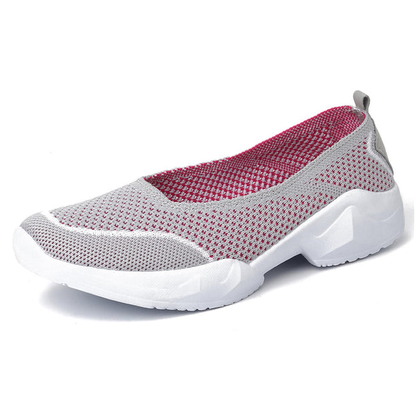 Large Size Women Hollow Out Casual Comfy Slip On Sneakers