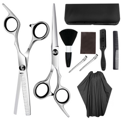 Household Set With Haircut Hairdressing Scissors Tooth Shears Flat Shears