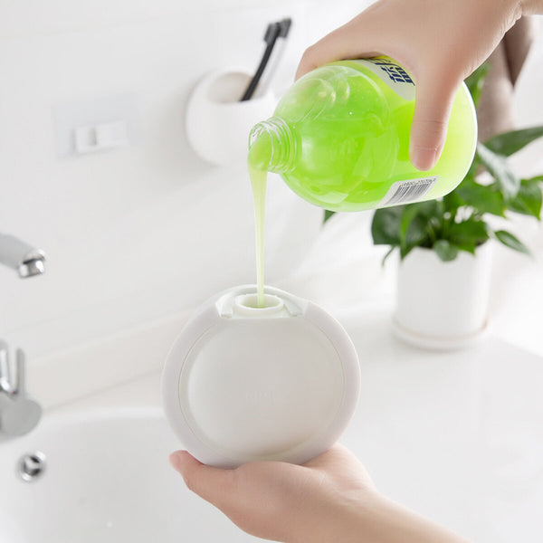 Wall Mount Soap Dispenser Press Type Removable Bathroom Wall Mount Liquid Soap
